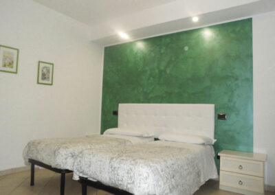 il casale della fornace camera da letto verde